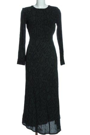 Minimum Robe longue vert-noir motif abstrait style décontracté
