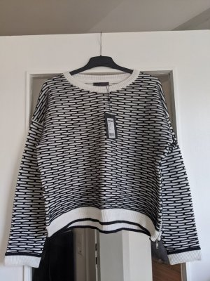 Minimum Jersey de cuello redondo blanco-negro
