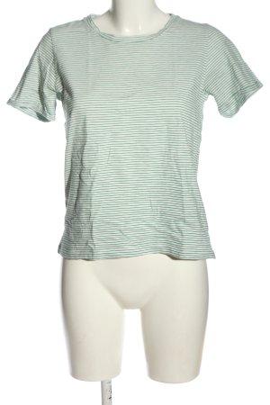 Minimum T-shirt rayé blanc-vert motif rayé style décontracté
