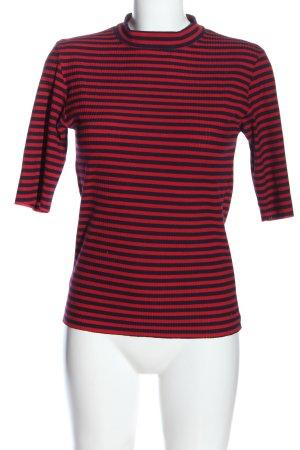 Minimum Chemise côtelée rouge-bleu motif rayé style décontracté