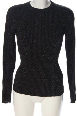 Minimum Jersey de cuello redondo negro moteado look casual