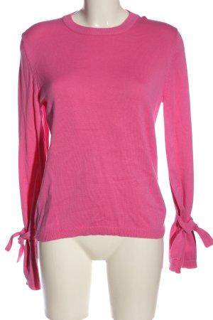 Minimum Rundhalspullover pink Casual-Look