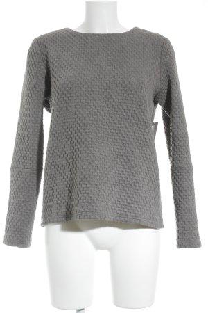 Minimum Rundhalspullover grau Hahnentrittmuster minimalistischer Stil