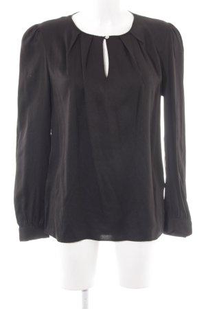 Minimum Schlupf-Bluse schwarz Elegant