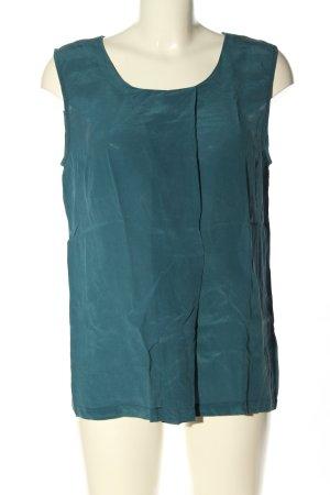 Minimum Top de seda azul estilo «business»