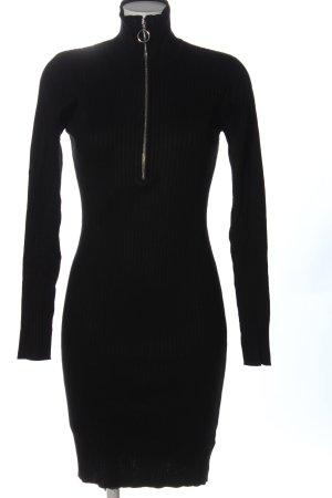 Minimum Robe en maille tricotées noir-argenté style décontracté