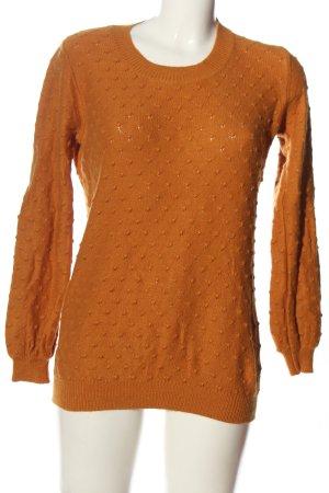 Minimum Pull tricoté brun style décontracté