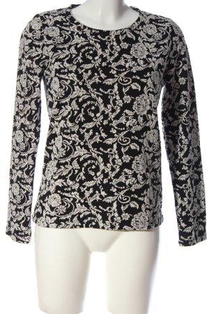 Minimum Strickshirt schwarz-weiß Casual-Look