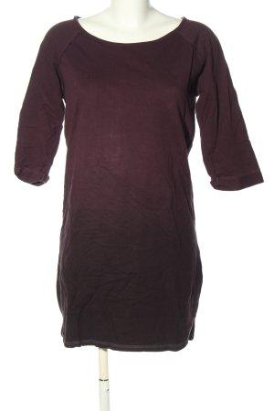 Minimum Sweatkleid rot-schwarz Farbverlauf Casual-Look
