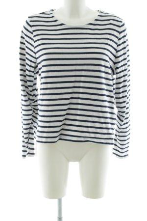 Minimum Sweatshirt noir-blanc motif rayé style décontracté