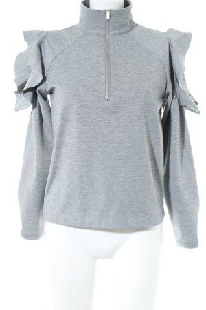 Minimum Sweatshirt hellgrau meliert Casual-Look