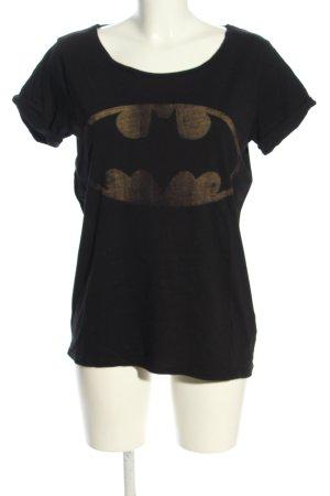Minimum T-Shirt schwarz Motivdruck Casual-Look
