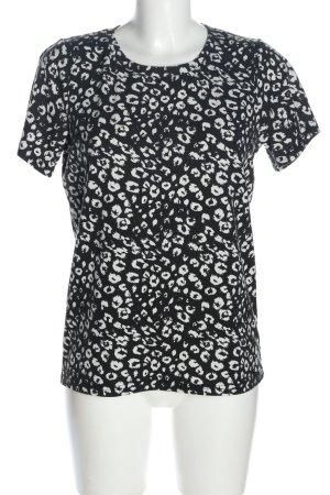 Minimum T-Shirt schwarz-weiß Allover-Druck Casual-Look