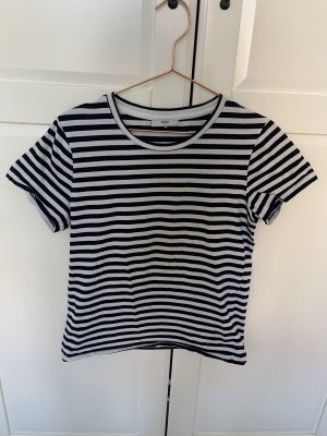 Minimum Camiseta blanco-azul oscuro