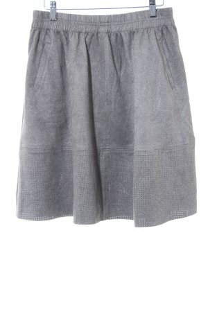 Minimum Falda circular gris moteado look casual
