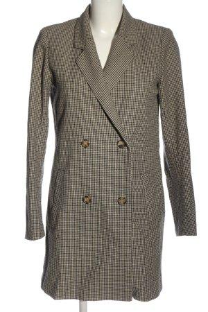 Minimum Manteau mi-saison noir-crème imprimé allover style décontracté
