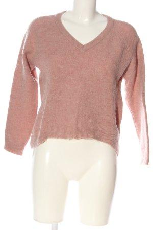 Minimum Jersey con cuello de pico rosa moteado look casual