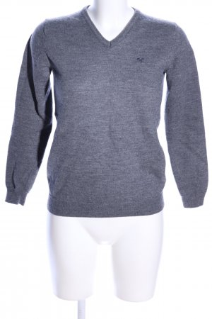 Minimum V-Ausschnitt-Pullover hellgrau meliert Business-Look