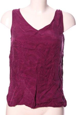 Minimum V-Ausschnitt-Shirt lila Casual-Look