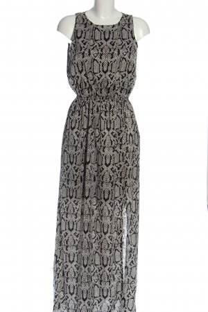 Minimum Vokuhila-Kleid schwarz-weiß Allover-Druck Casual-Look