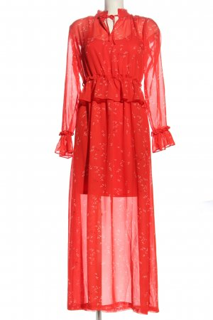 Minimum Vestido estilo flounce rojo-blanco estilo fiesta