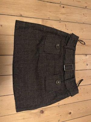 3 Suisses Minifalda marrón oscuro-blanco puro