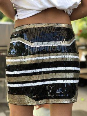 Express Miniskirt black-white