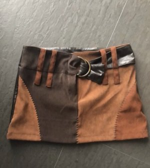 Blind Date Mini rok bruin-zwart bruin