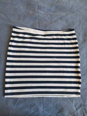 Outfitters nation Mini-jupe blanc-bleu foncé
