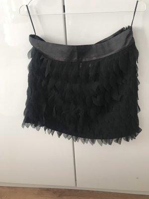 Amisu Fringed Skirt black