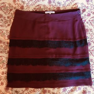 Anna Field Fringed Skirt carmine-black