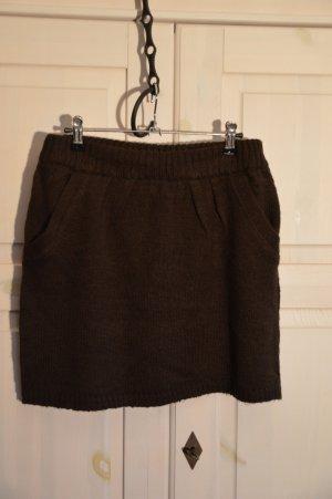 Infinity woman Knitted Skirt black brown polyacrylic