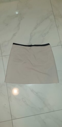 H&M Minigonna nero-beige chiaro