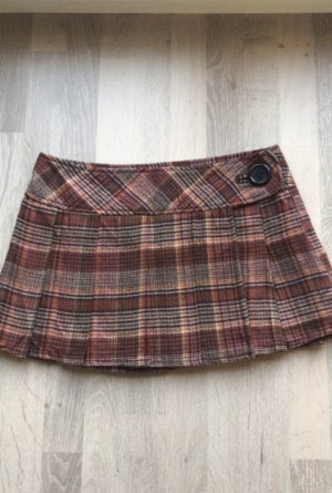 Colours of the World Plaid Skirt russet