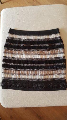 Twin set Spódnica mini czarny-srebrny