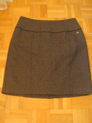 Livre Gonna tweed marrone scuro-nero
