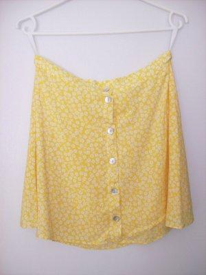 Minirock gelb-weißgeblümt von H&M DIVIDED