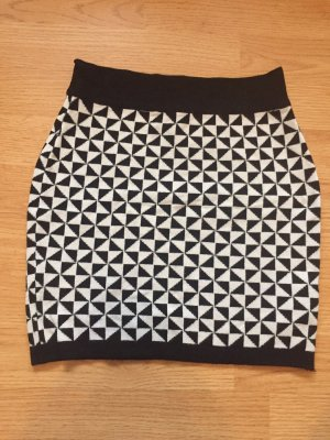 Amisu Minifalda negro-blanco