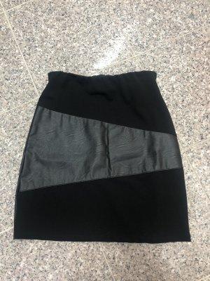 MiMOSA Jupe en cuir synthétique noir