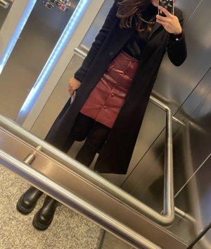 Orsay Skórzana spódnica bordo-brązowo-czerwony