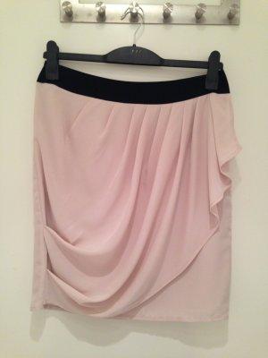 Minirock in rosé/schwarz von H&M in Größe 40