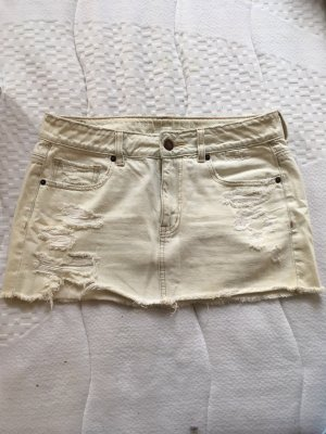 American Eagle Outfitters Miniskirt cream-white cotton
