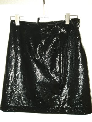 Edited Faux Leather Skirt black