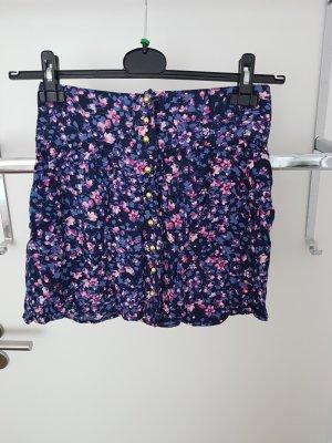 Charlotte Russe Spódnica mini różowy-fiolet Bawełna
