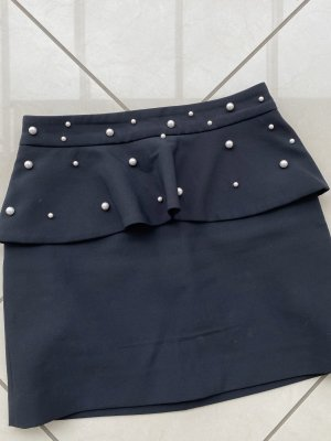 Minirock mit Perlen Zara Gr. M schwarz