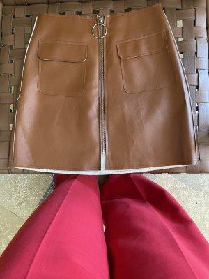 Minirock mit Reißverschluss