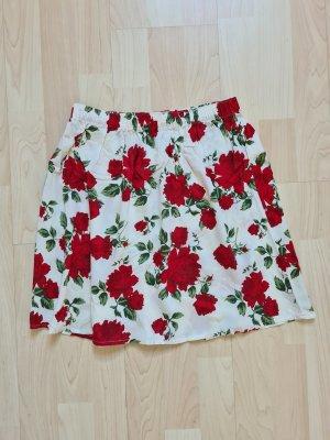 8 Mini rok wolwit-rood