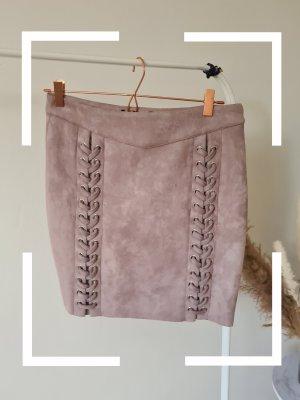 Amisu Spódnica mini stary róż-bladofiołkowy