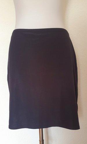 Minirock mit Seitenschlitz schwarz Gr 40