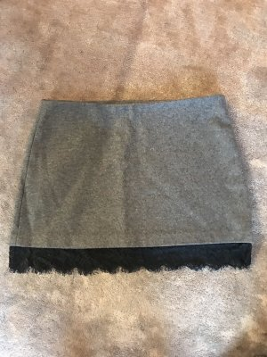 Zara Trafaluc Wool Skirt black-grey